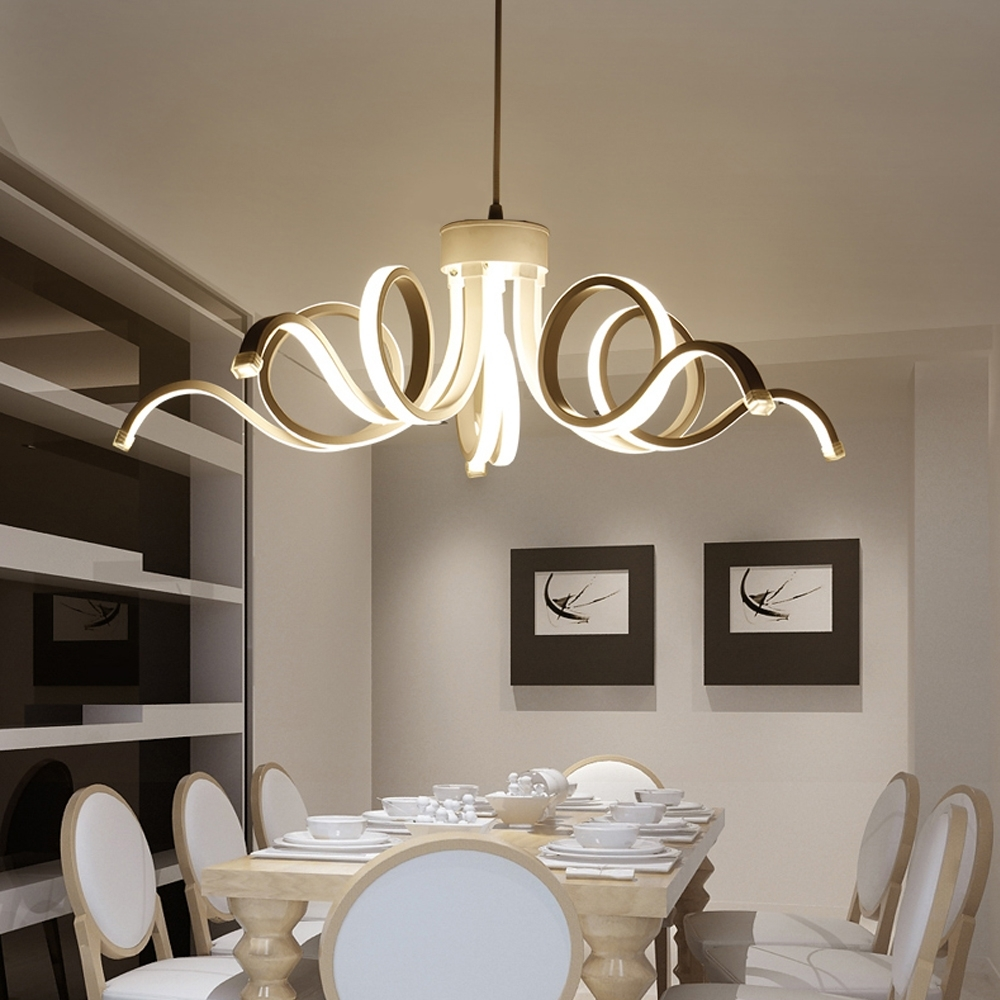 Led Modern Chandelier Lighting Novelty Lustre Lamparas Colgantes With Regard To Fashionable Modern Chandelier Lighting (View 17 of 20)