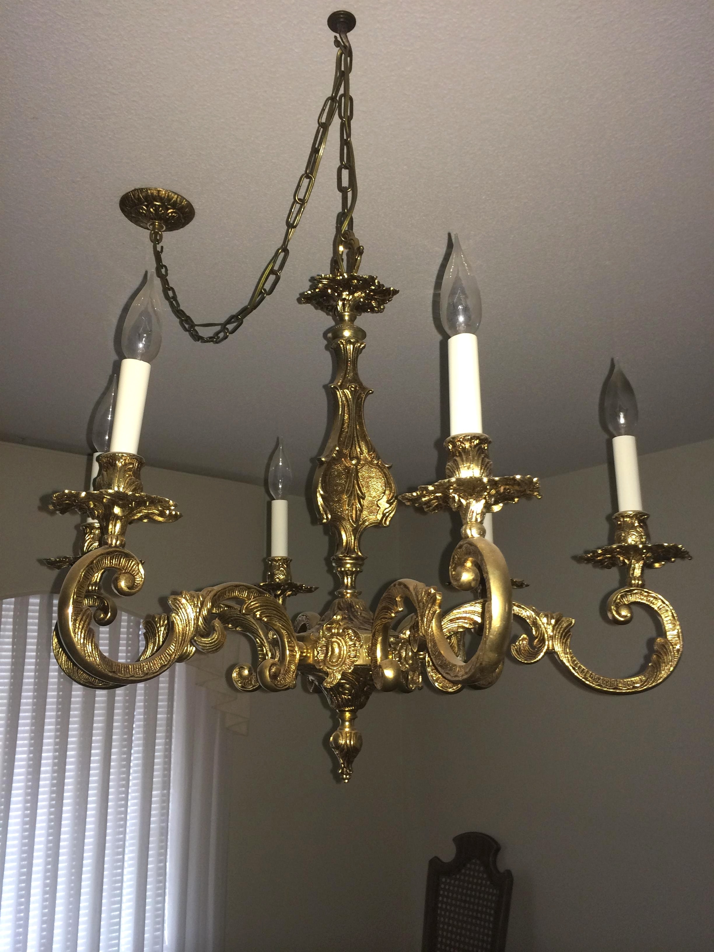 Light : Antique Brass Chandelier Value With Appraisal Instappraisal Regarding 2018 Old Brass Chandelier (View 10 of 20)