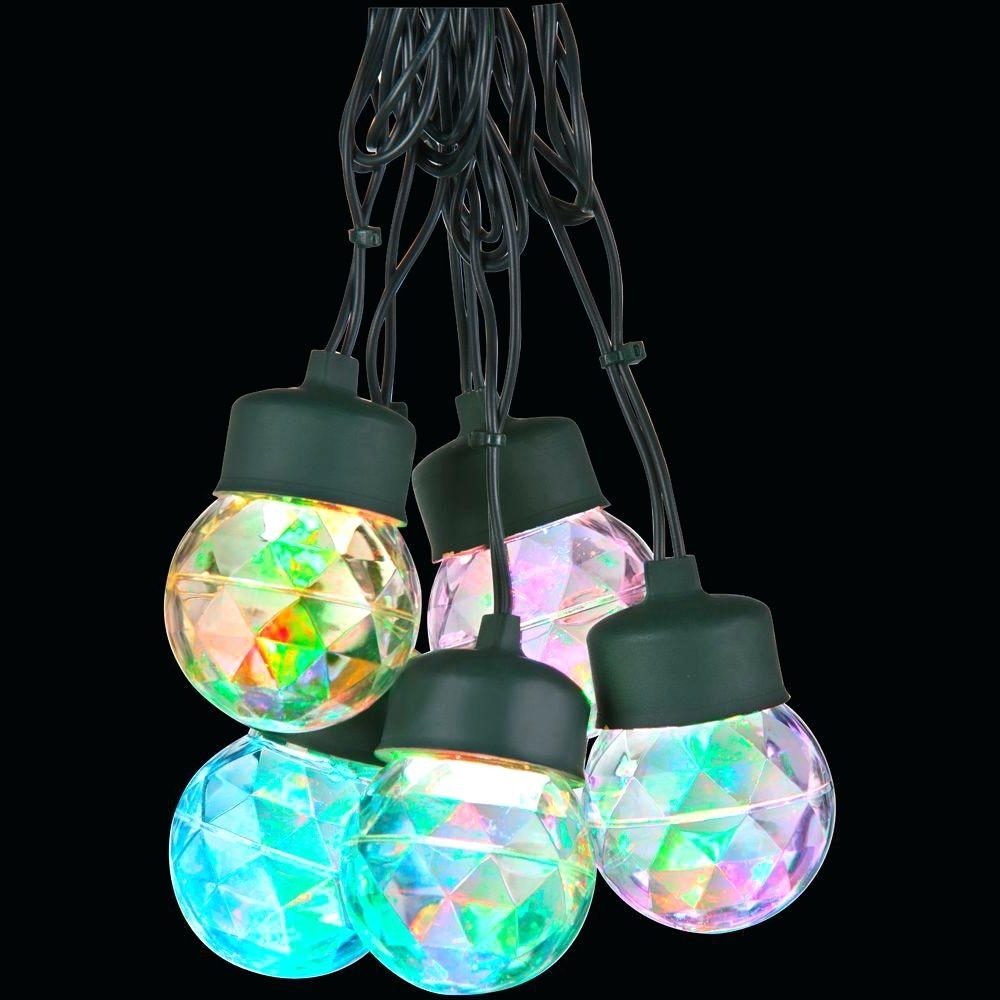 Light : Ceiling Light Show Multi Color Round Projection String Within Most Popular Multi Colored Gypsy Chandeliers (View 7 of 20)