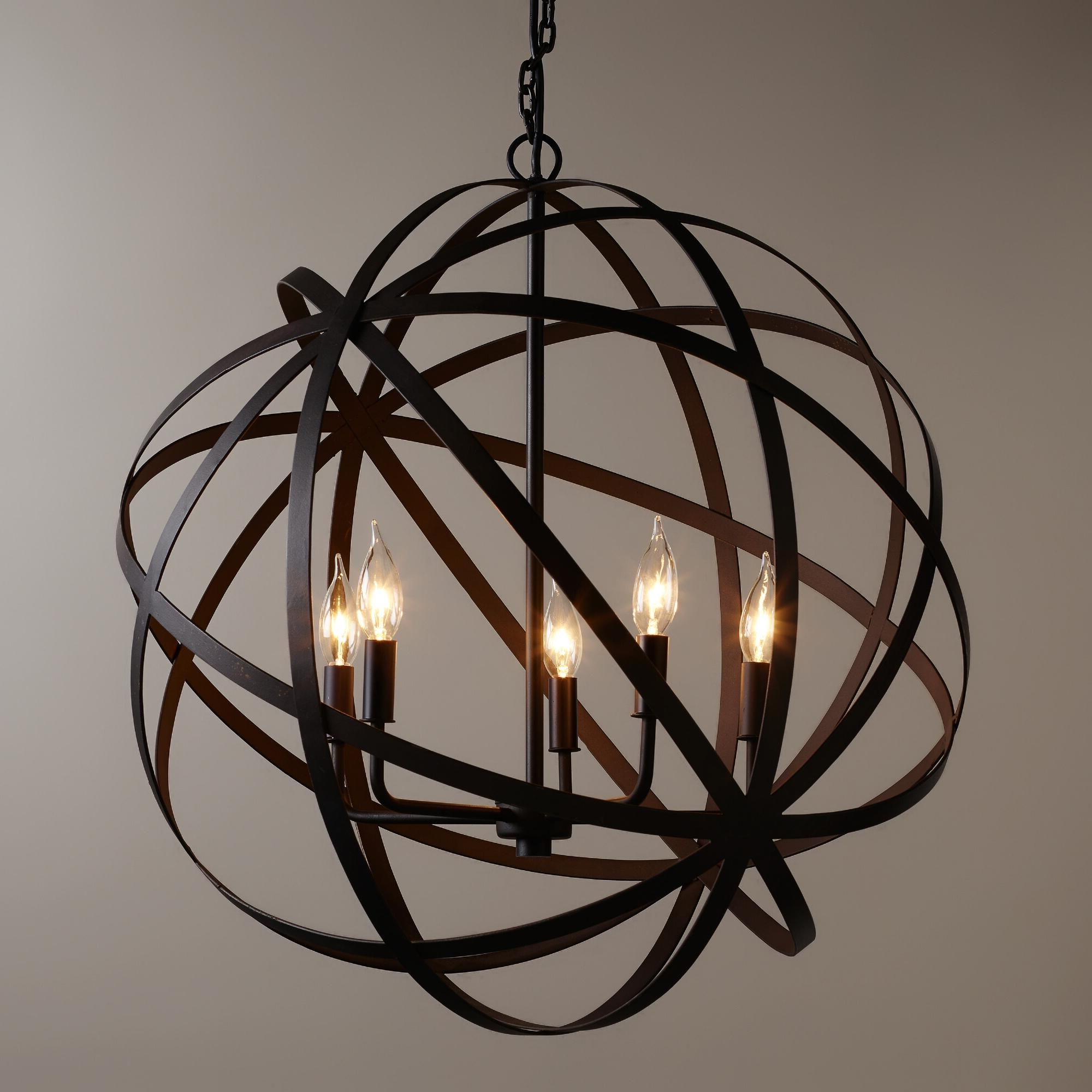 Light : Creative Orb Chandelier About Interior Designing Home Ideas With Fashionable Metal Chandeliers (View 3 of 20)