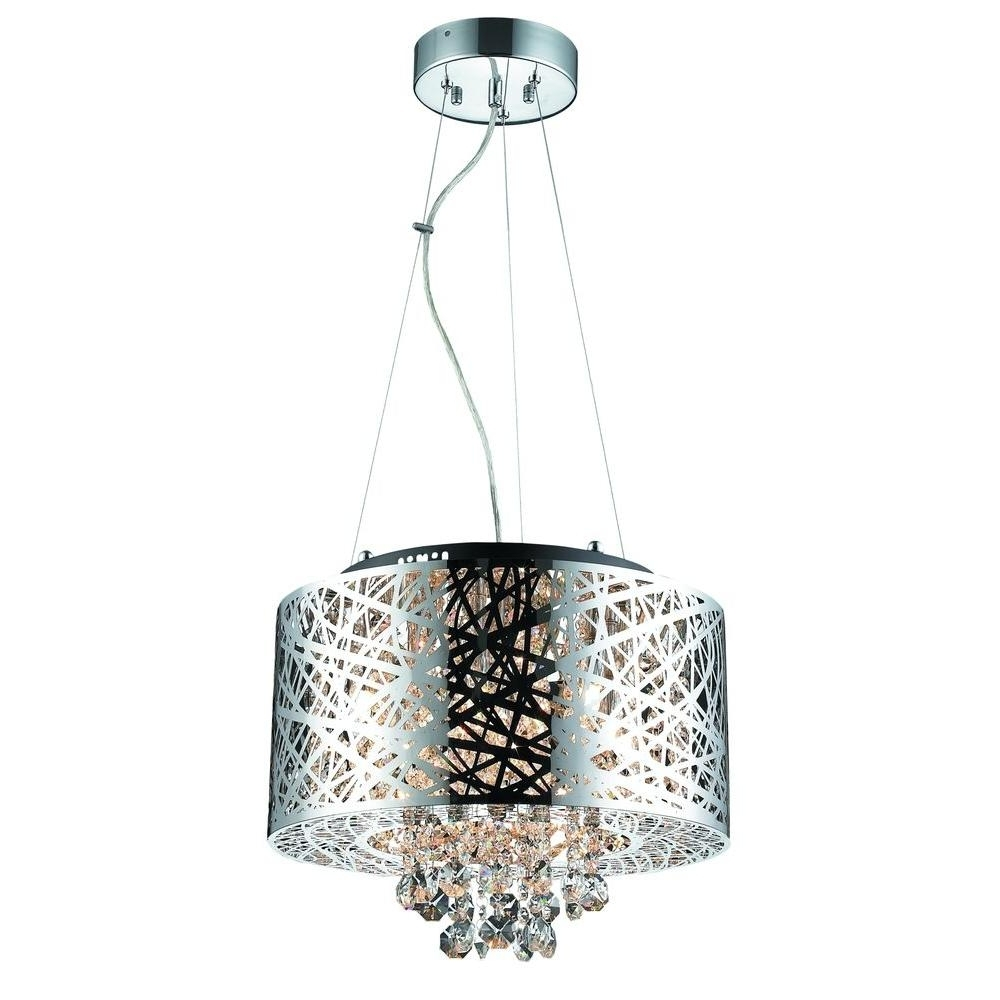 Light Fitting Chandeliers Inside Well Known Decor Living 6 Light Chrome Medium Helix Chandelier 103973 15 – The (View 6 of 20)