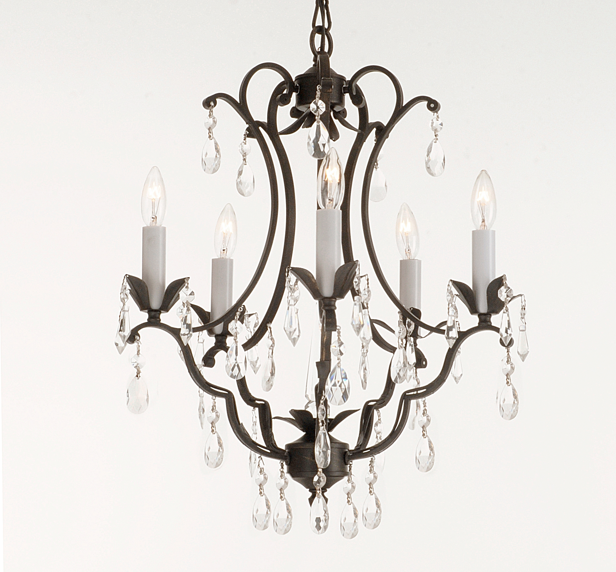Light : Furniture Vintage Look Modern Black Wrought Iron Chandeliers Regarding Most Recent Candle Look Chandeliers (View 16 of 20)