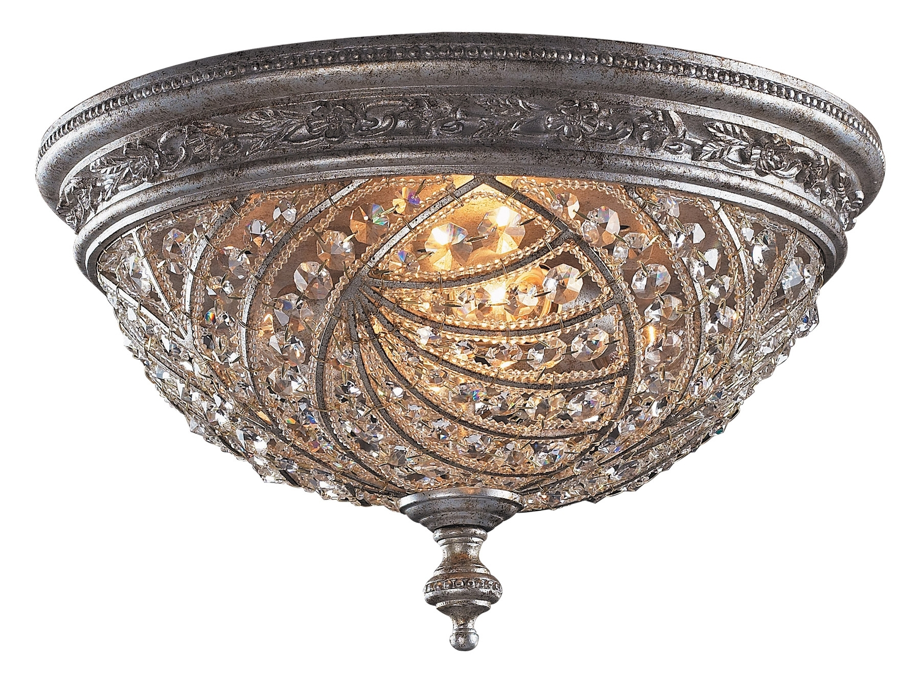 Lighting 6232/4 Crystal Renaissance Flush Mount Ceiling Fixture Regarding Latest Flush Chandelier Ceiling Lights (View 14 of 20)