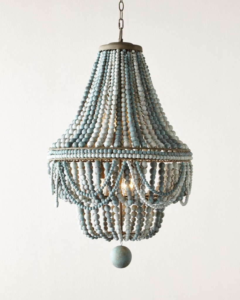 Lighting : Aqua Light Turquoise Green Vintage Style Chandelier For Fashionable Diy Turquoise Beaded Chandeliers (View 15 of 20)
