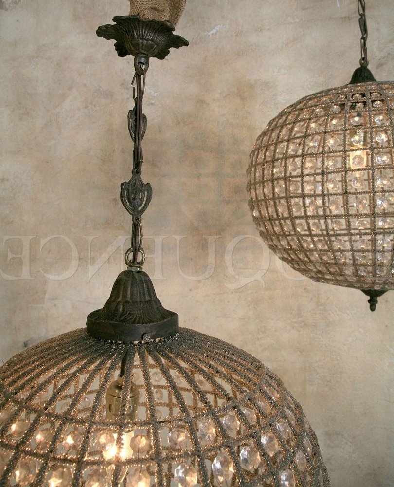 Lighting – Chandeliers – Eloquence Large Globe Chandelier – Cottage Within 2018 Large Globe Chandelier (View 17 of 20)