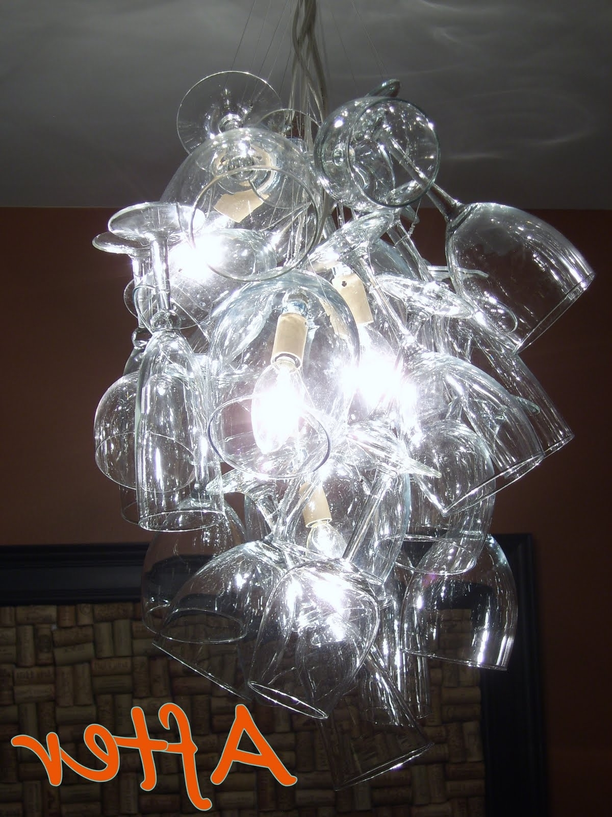 Lighting: Diy Drum Shade Chandelier With Sea Glass Chandeliers Also Pertaining To Well Known Glass Droplet Chandelier (View 17 of 20)