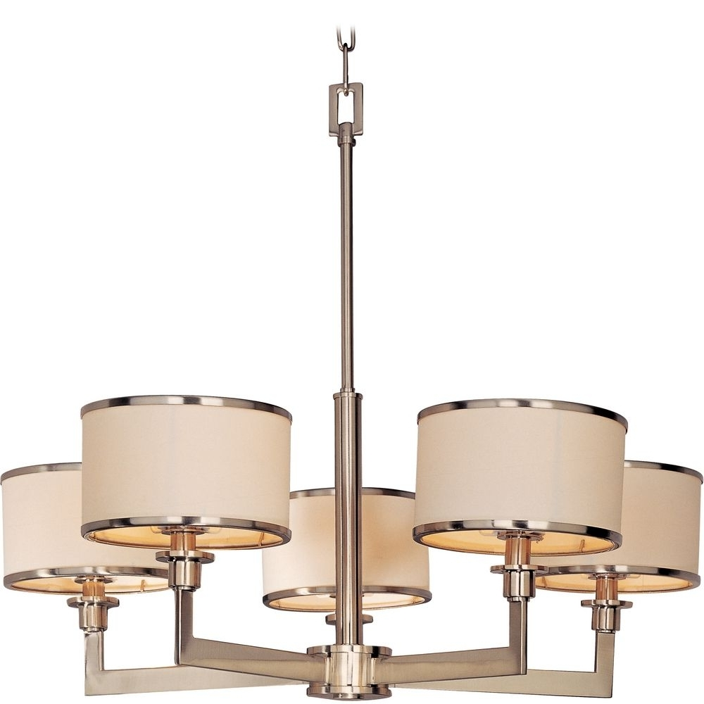 Lighting: Satin And Drums Drum Chandelier Also Large Drum Shade In Preferred Large Cream Chandelier (View 5 of 20)