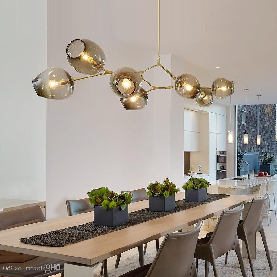 Lindsey Adelman Globe Glass Pendant Lamp Branching Bubble Modern Intended For Preferred Modern Chandelier (View 7 of 20)
