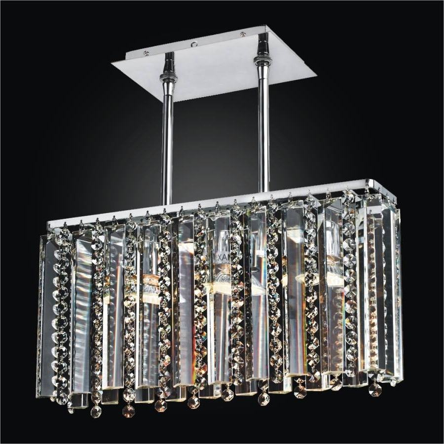 Linear Glass Chandelier – Crystal Chandelier (View 4 of 20)