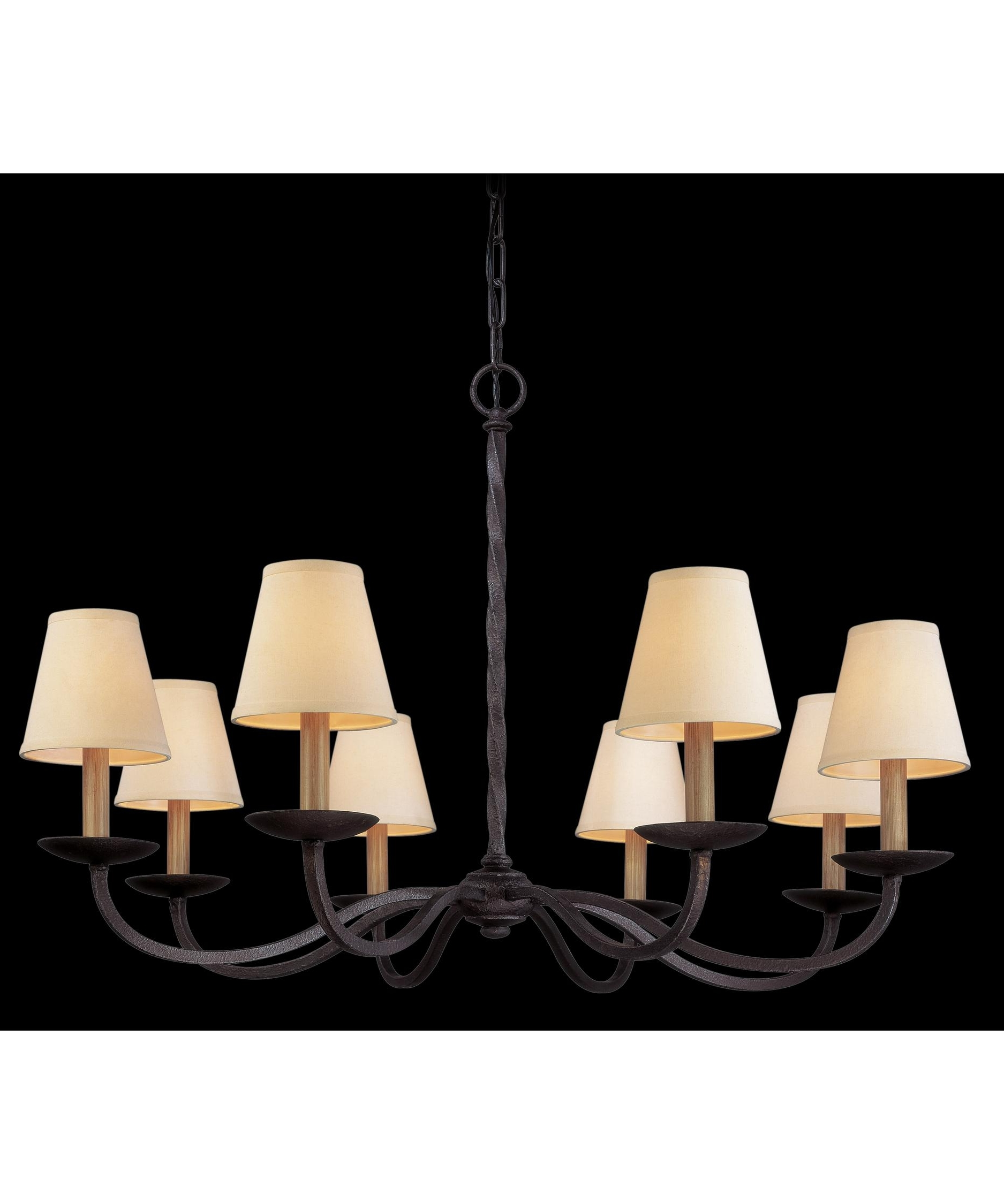 Linen Chandeliers Inside Fashionable Troy Lighting F2668 Alexander 38 Inch Wide 8 Light Chandelier (View 7 of 20)