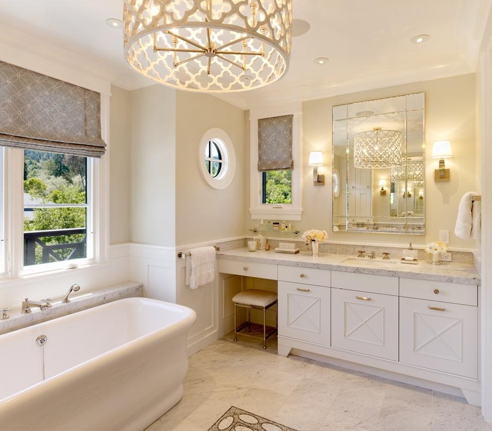 Lovely Chandelier Bathroom Lighting 25 Ways To Decorate With In Favorite Bathroom Lighting With Matching Chandeliers (View 2 of 20)