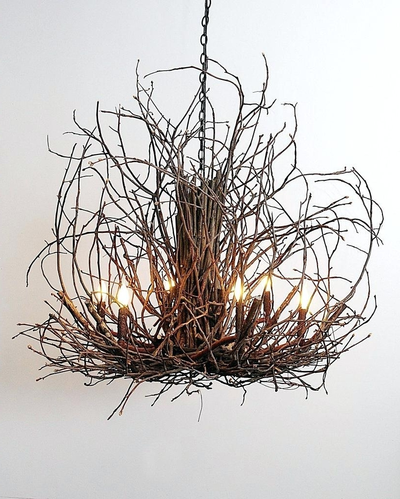 Lucinda Branch Chandelier Within Most Recent Twig Chandelier – Medpharmjobs (View 20 of 20)