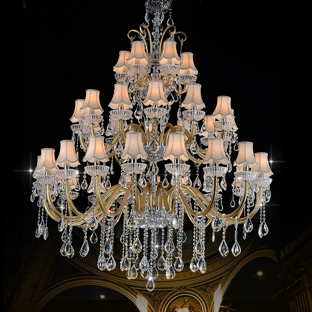Luxury Large Chandelier Modern Sanctuary Hall Chandeliers With Shade Inside Most Current Large Chandeliers Modern (View 13 of 20)
