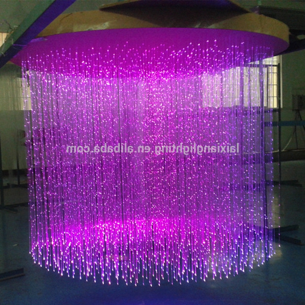 Made From Fiber Optic Cable Purple Crystal Chandelier,can Form Any Regarding Most Current Purple Crystal Chandeliers (View 7 of 20)