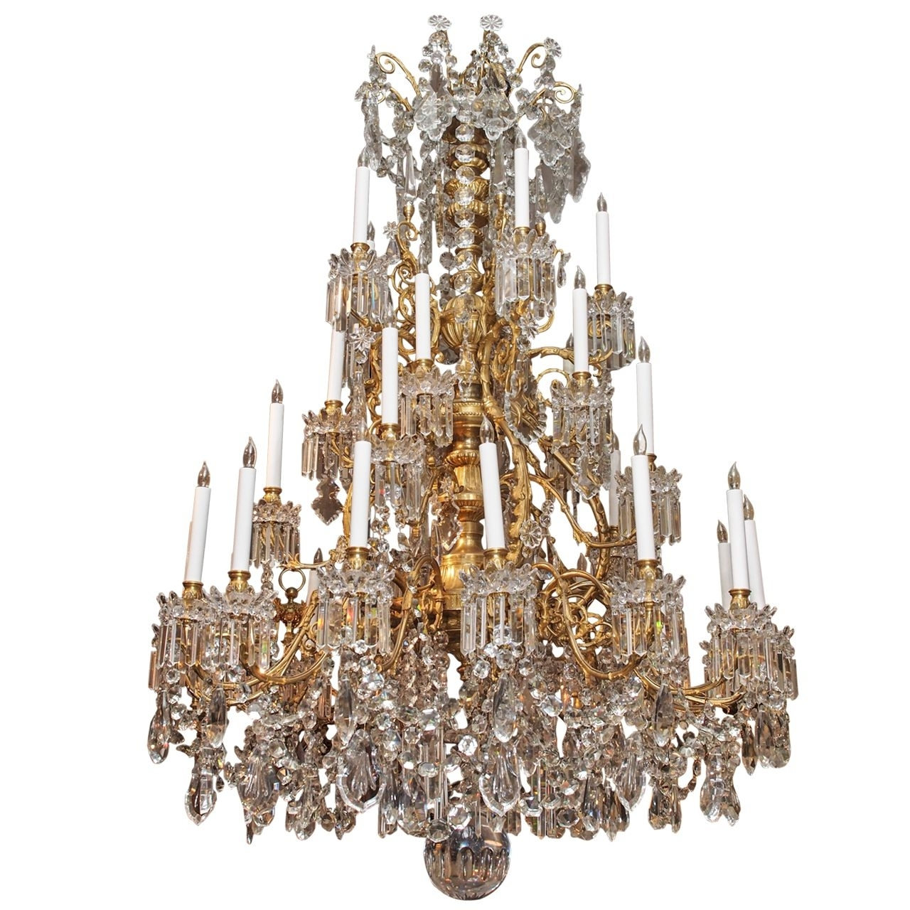 Magnificent Antique French Baccarat Crystal Chandelier Circa 1850 Intended For Favorite Antique Chandeliers (View 17 of 20)
