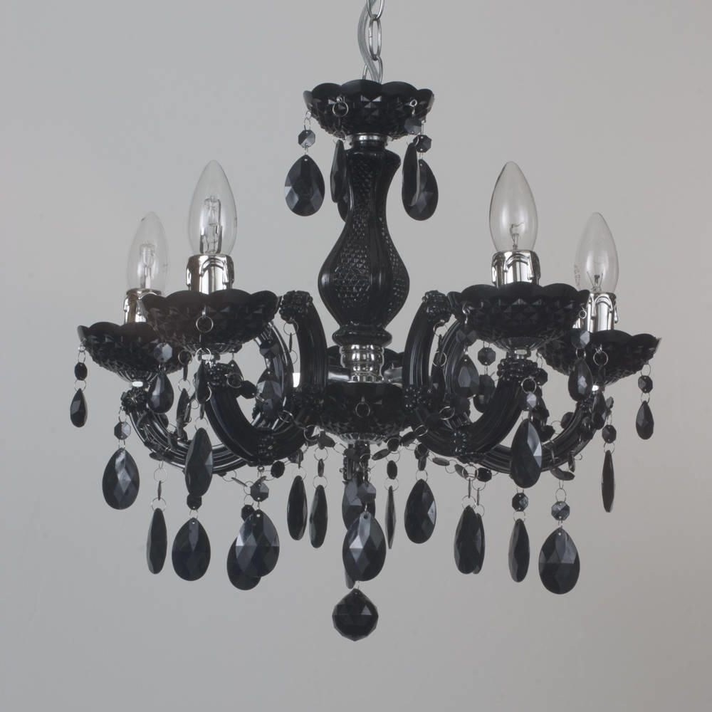 Marie Therese Chandelier Black 5 Light Dual Mount From Litecraft Pertaining To Recent Black Chandeliers (View 13 of 20)