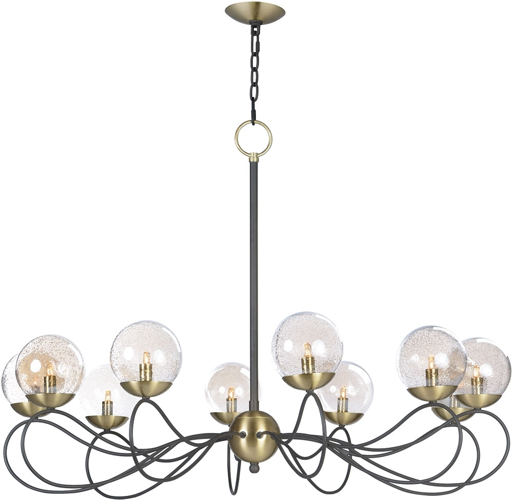 Maxim 20467Tbgtbzsbr Bul Reverb Modern Textured Bronze / Satin Brass Intended For Well Liked Bronze Modern Chandelier (View 14 of 20)