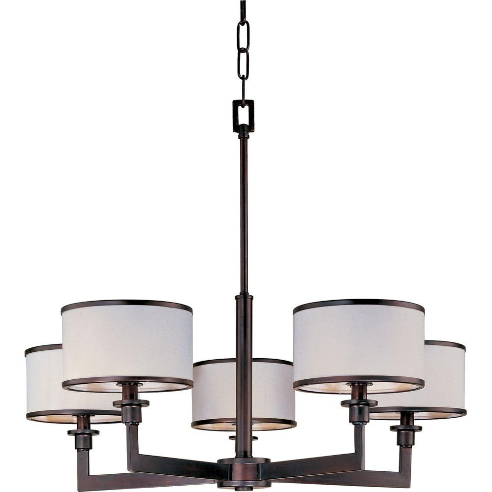 Maxim Lighting Nexus 5 Light Oil Rubbed Bronze Chandelier 12055Wtoi With Trendy Bronze Modern Chandelier (View 15 of 20)