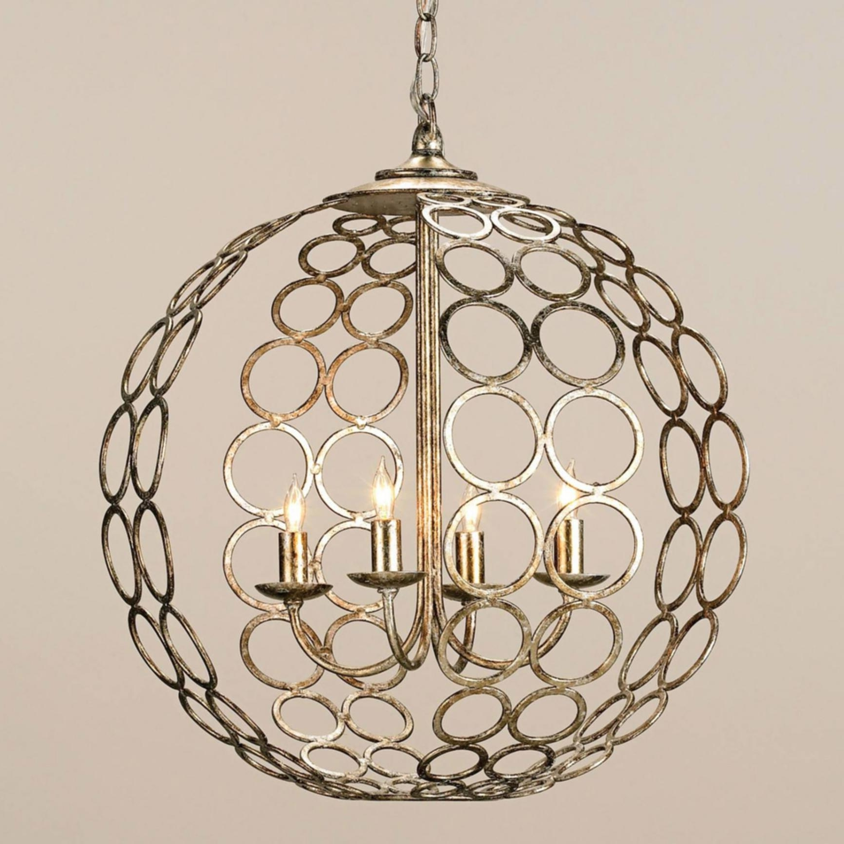 Metal Chandeliers With Trendy Orb Chandelier Canada Cool Iron Orb Chandelier Foucaults Orb Crystal (View 14 of 20)