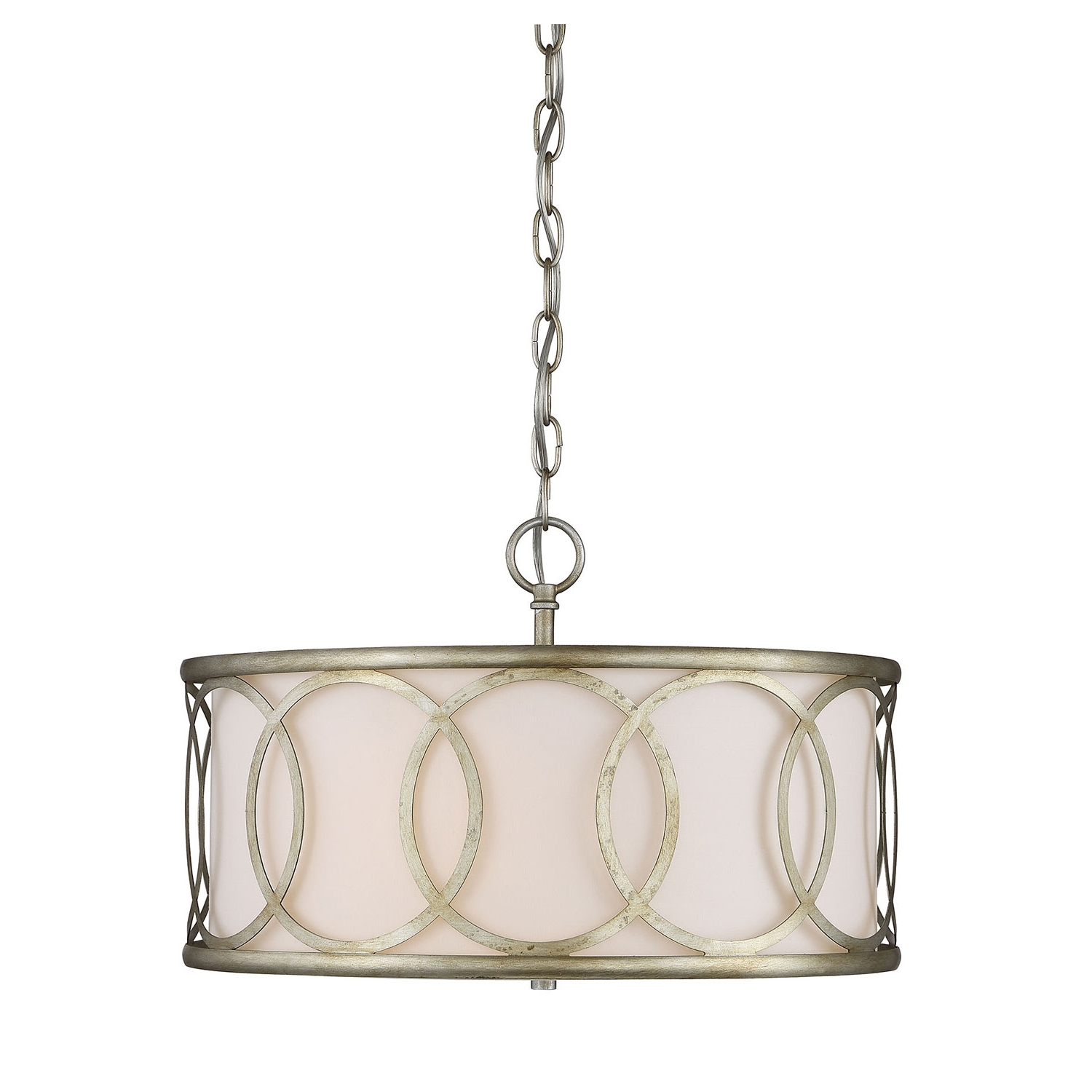 Metal Drum Chandeliers In Well Known 251 First Linden Argentum Three Light Drum Pendant On Sale (View 11 of 20)