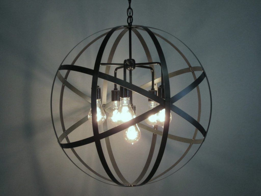 Metal Sphere Chandelier Throughout Preferred Chandelier ~ Home Decor: Admirable Light Of Sphere Chandelier With (View 7 of 20)