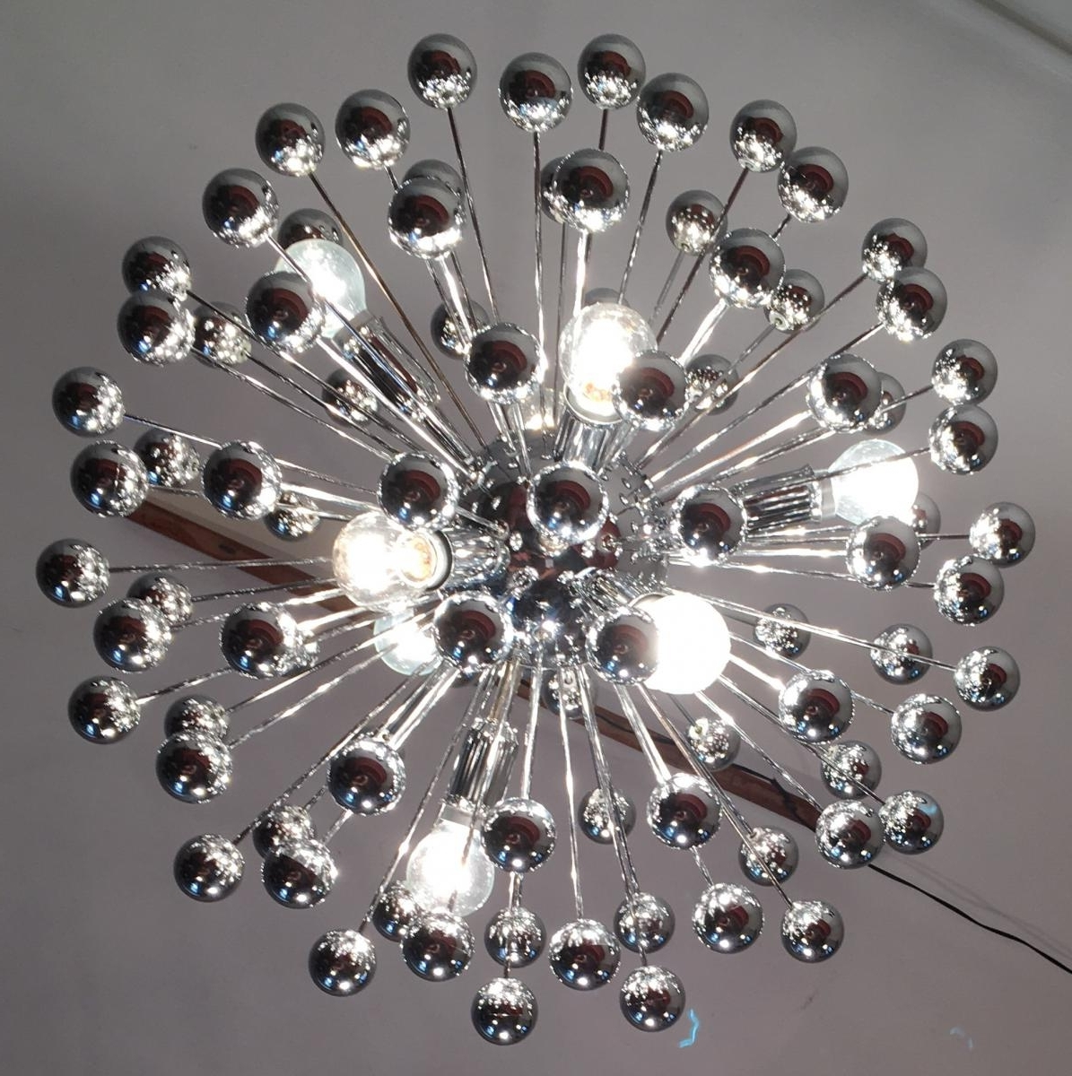 Mid Century Italian Chrome Multi Sphere Sputnik Chandelier, 1960S Inside Newest Chrome Sputnik Chandeliers (View 11 of 20)