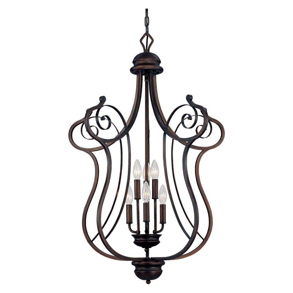 Millennium Lighting 6 Light Rubbed Bronze Chandelier With Turinian With Regard To Preferred Large Bronze Chandelier (View 4 of 20)