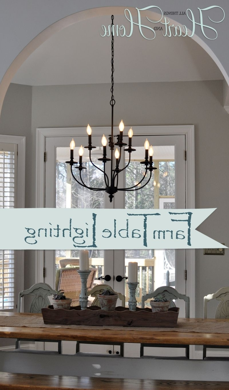 Mini Chandelier Table Lamps In Most Up To Date Lighting Over The Farmhouse Table The Winner (View 8 of 20)