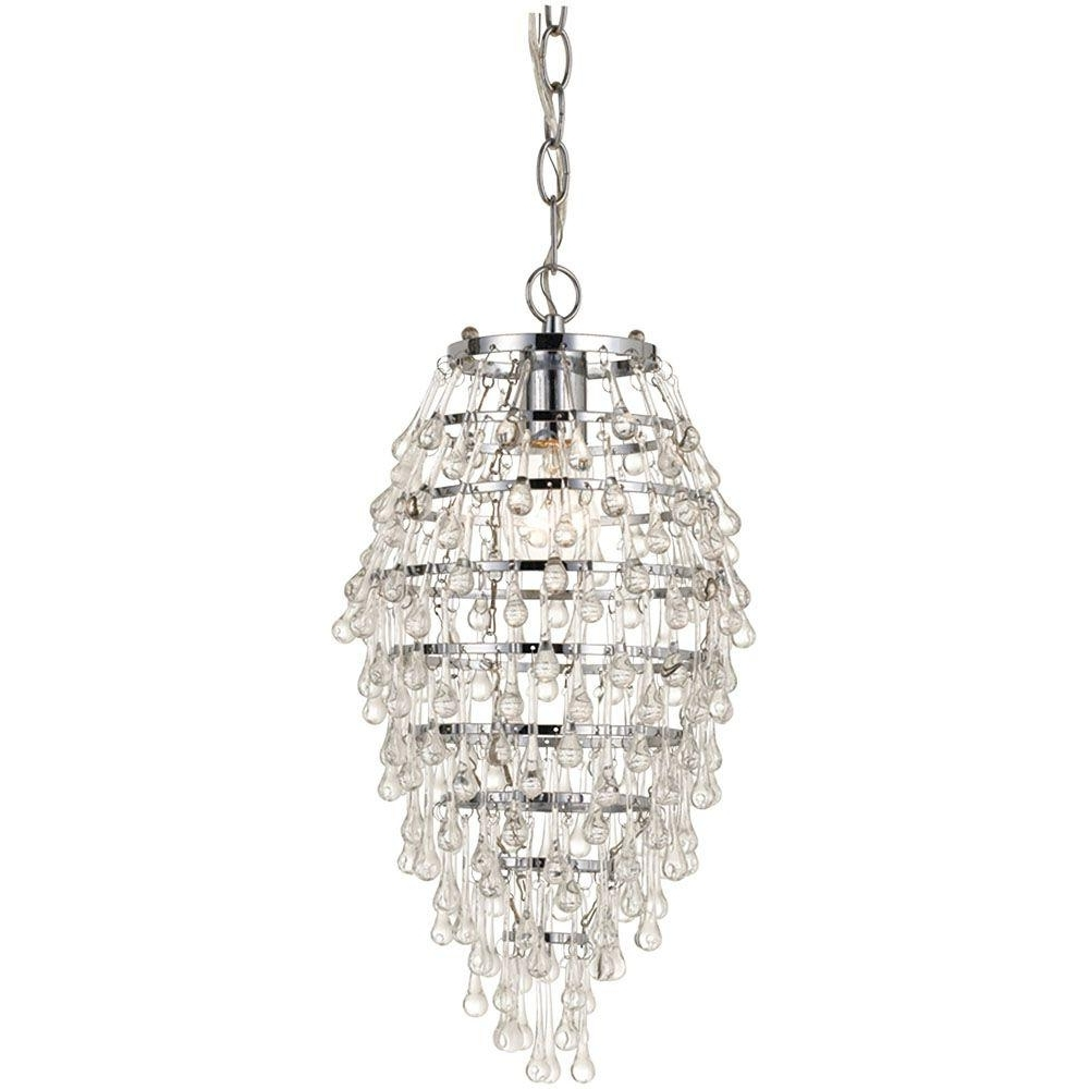 Mini – Chandeliers – Lighting – The Home Depot Intended For Best And Newest Mini Crystal Chandeliers (View 6 of 20)
