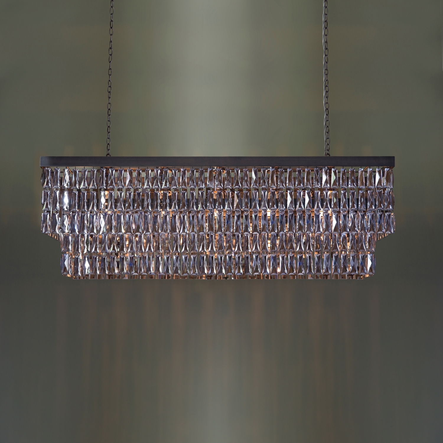 Mirrored Crystal Rectangular Chandelier – Tigermoth Lighting For 2019 Mirrored Chandelier (View 15 of 20)