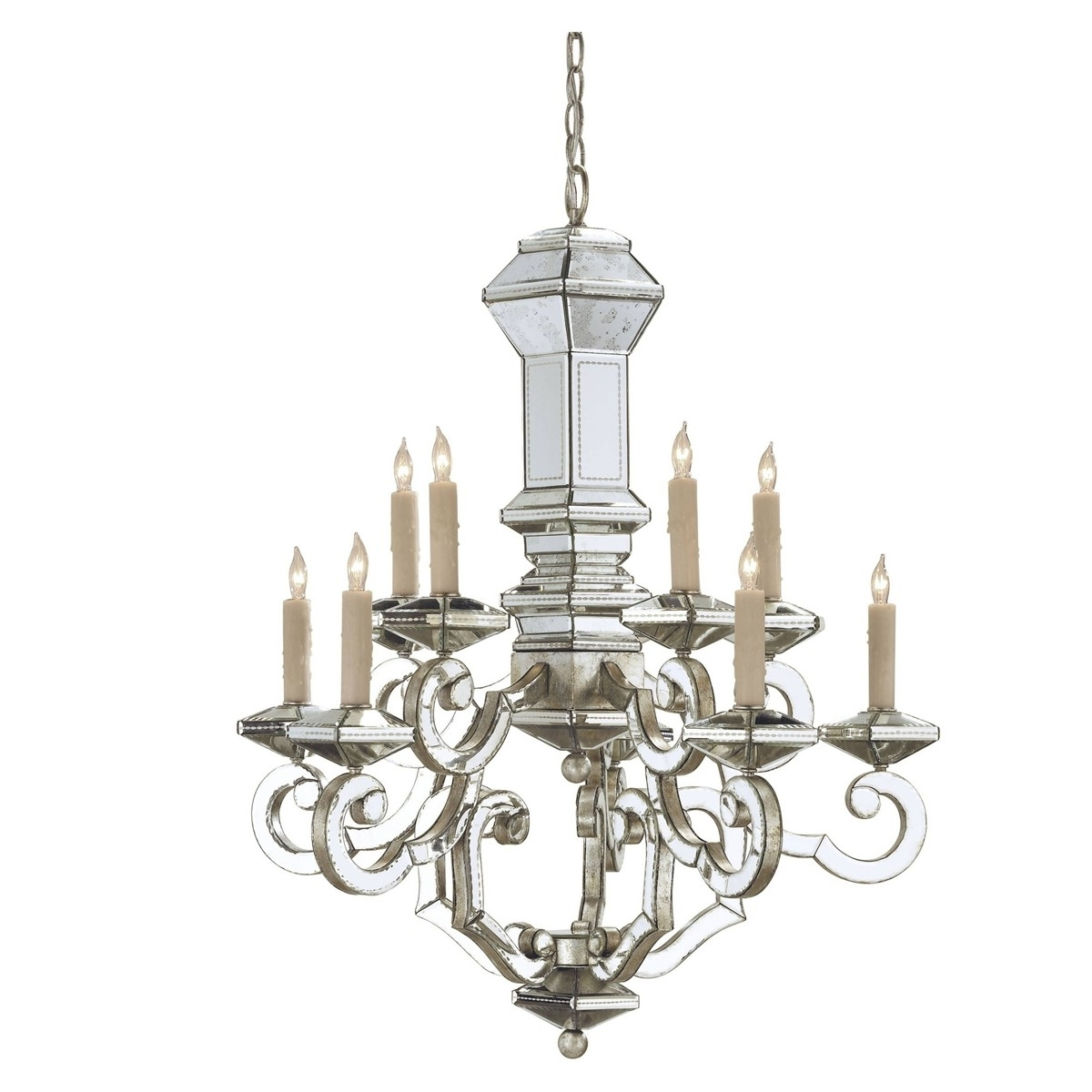 Mirrored Venetian Chandelier – Belle Escape Throughout Best And Newest Mirrored Chandelier (View 16 of 20)