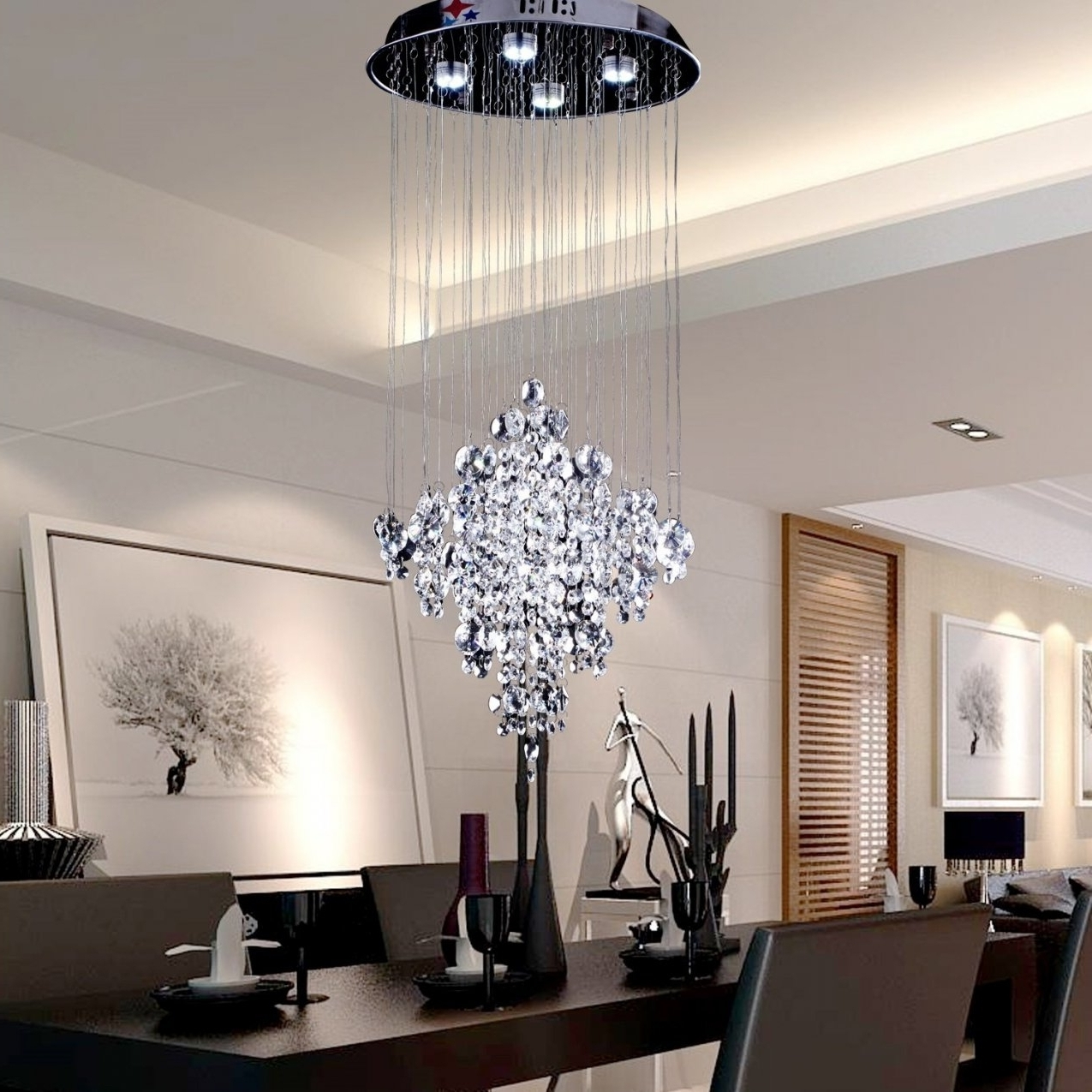 Modern Chandelier Intended For 2018 Modern Chandeliers For High Ceilings (View 8 of 20)
