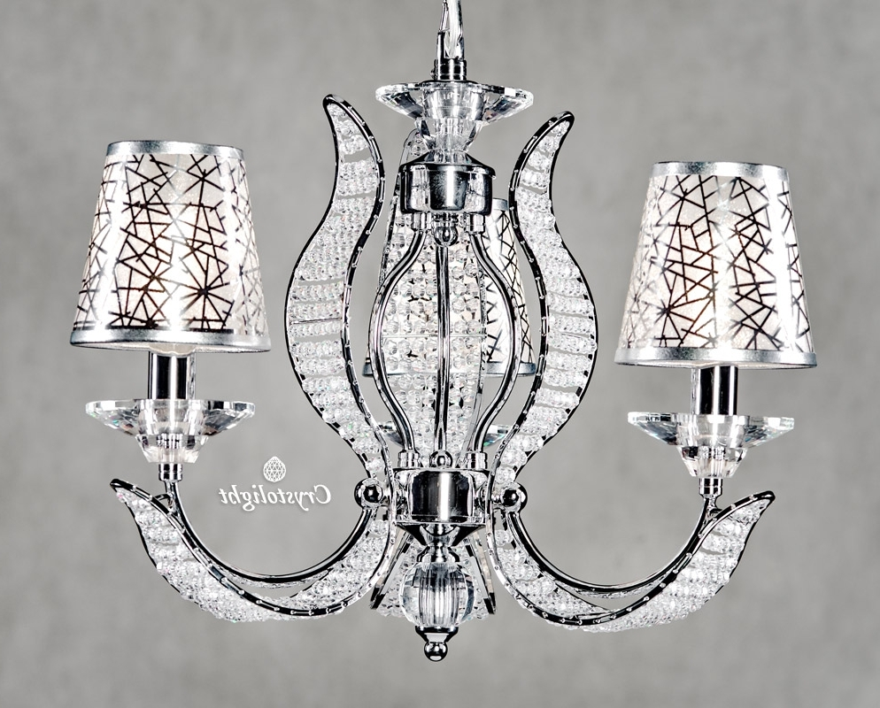 Modern Chandeliers Intended For Most Recently Released Modern Chandeliers 3 Arms With Covers – Crystolight Chandeliers (View 17 of 20)