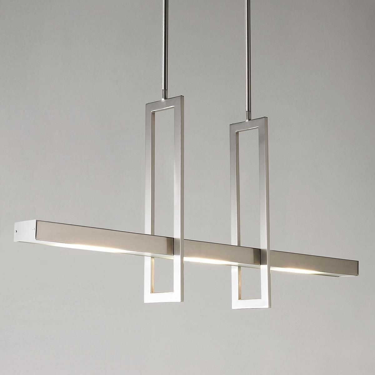 Modern Chandeliers Regarding Most Up To Date Energy Efficient Modern Balance Beam Led Linear Chandelier (View 12 of 20)
