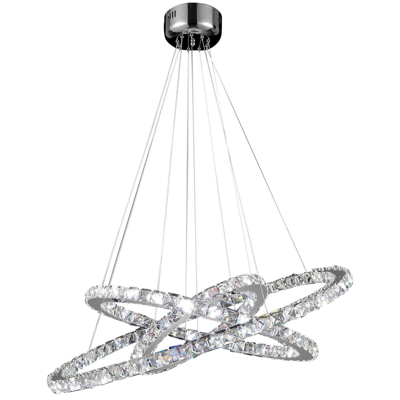 Modern Chrome Chandeliers For Fashionable Brizzo Lighting Stores (View 6 of 20)