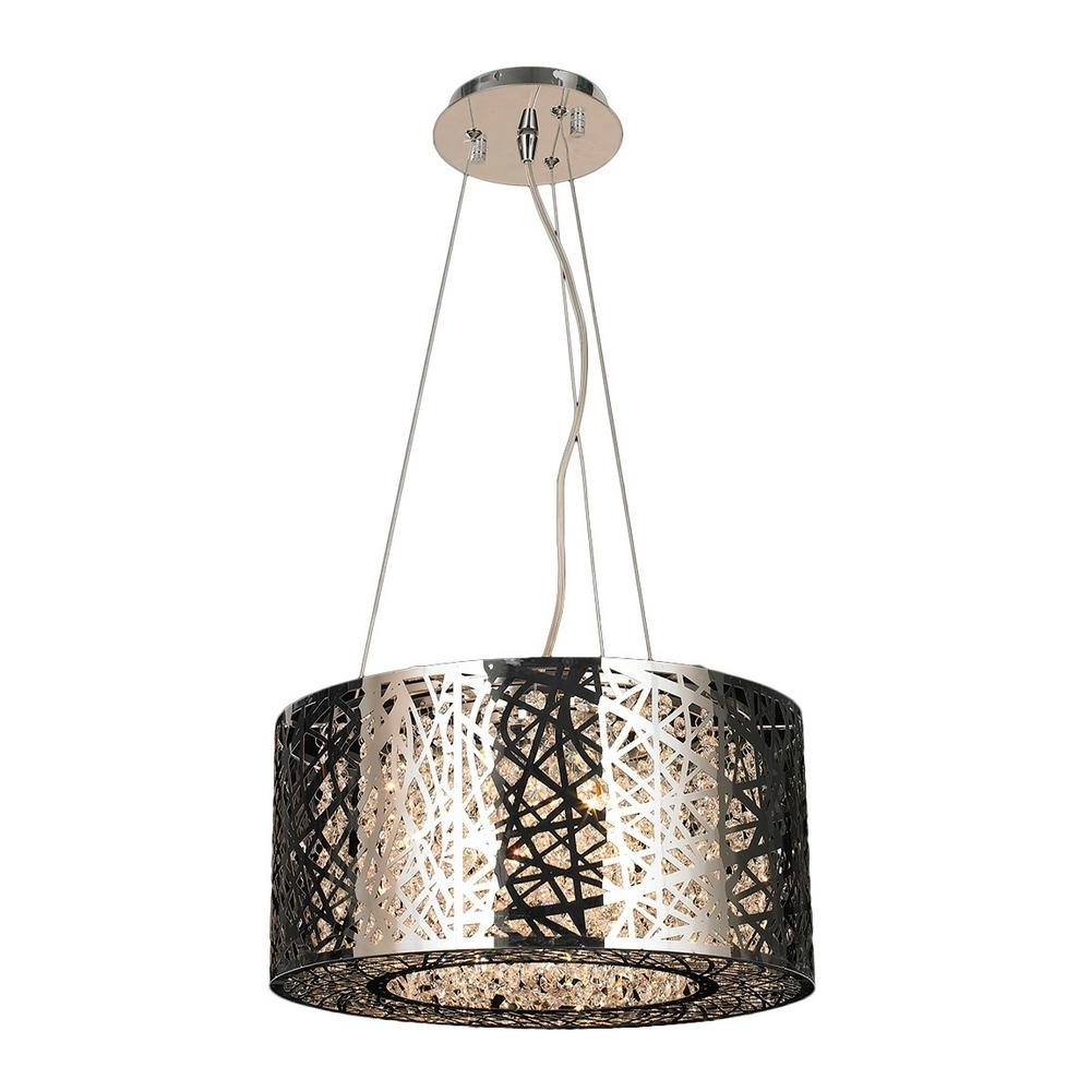 Modern Chrome Chandeliers Inside Well Known Worldwide Lighting Aramis Collection 6 Light Polished Chrome (View 11 of 20)
