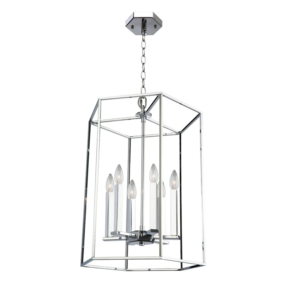 Modern Elegance 6 Light Chrome Chandelier (View 12 of 20)
