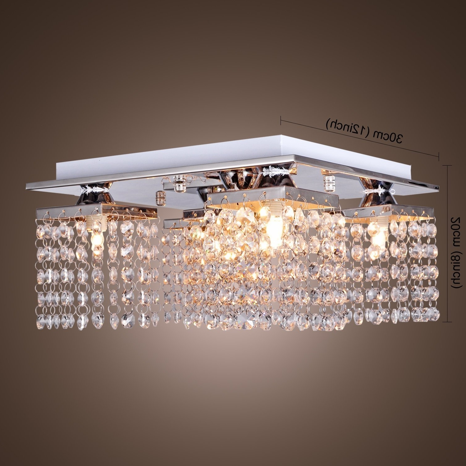 Modern Fashion Crystal Ceiling Lamp With 5 Lights Led Stainless In Preferred Chandelier For Low Ceiling (View 3 of 20)