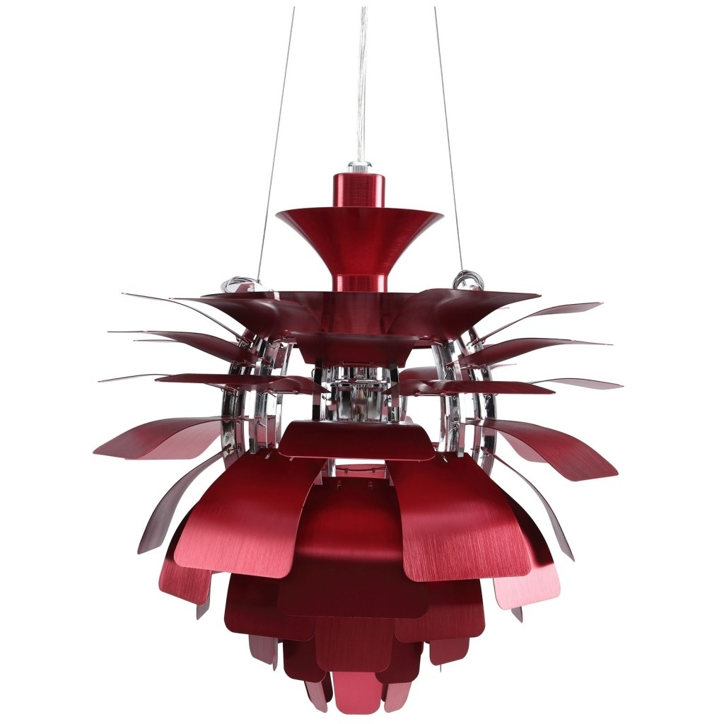 Modern Furniture • Brickell Collection In Modern Red Chandelier (View 11 of 20)