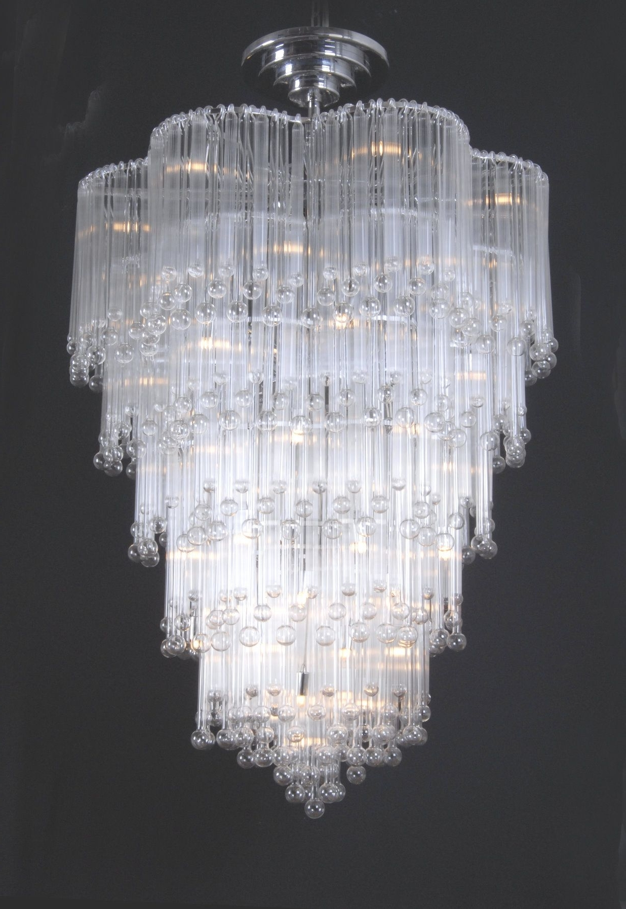 Modern Glass Chandeliers Inside Trendy Chic Chandeliers (View 12 of 20)