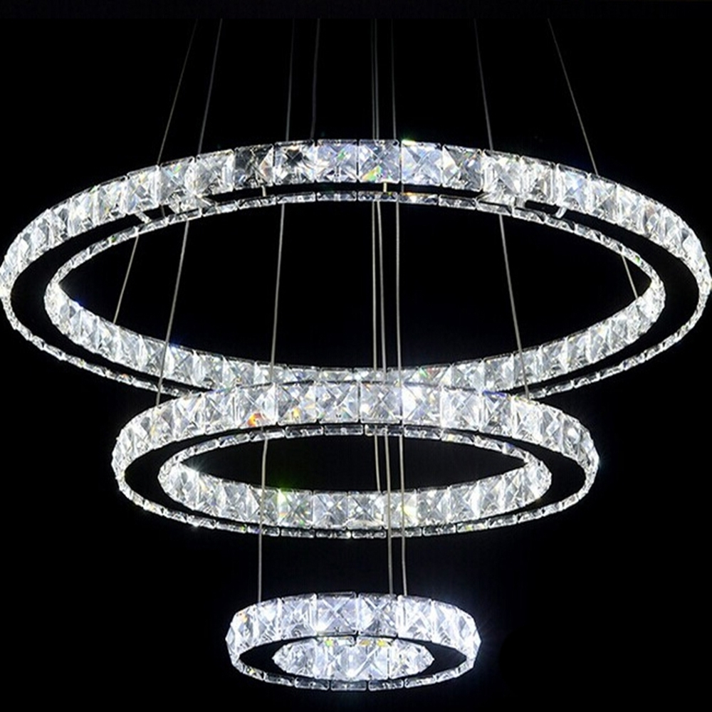 Modern Led Crystal Chandelier Light Fixture For Living Room Dining For Most Up To Date Modern Led Chandelier (View 12 of 20)