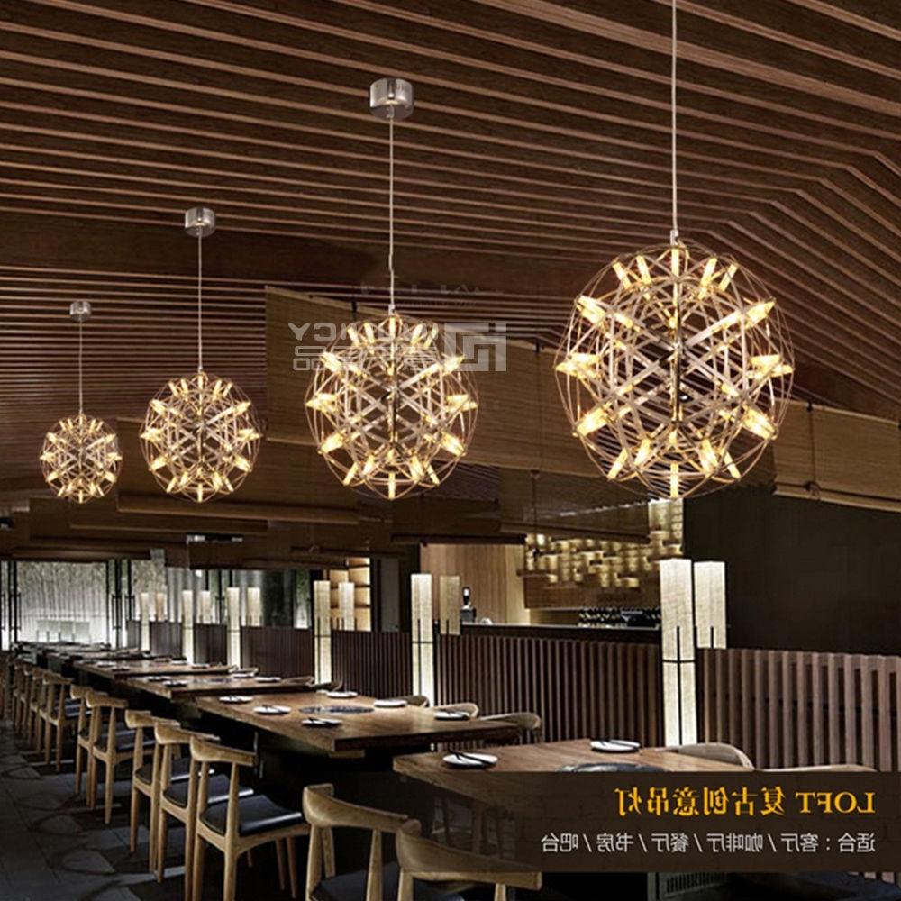 Modern Stainless Steel Loft Corridor Cafe Bar Restaurant Lamp With Preferred Restaurant Chandelier (View 8 of 20)