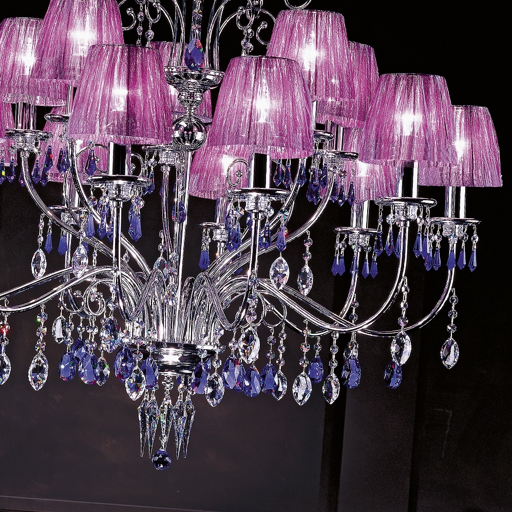 Modern Swarovski Crystal Violet Chandelier (View 12 of 20)