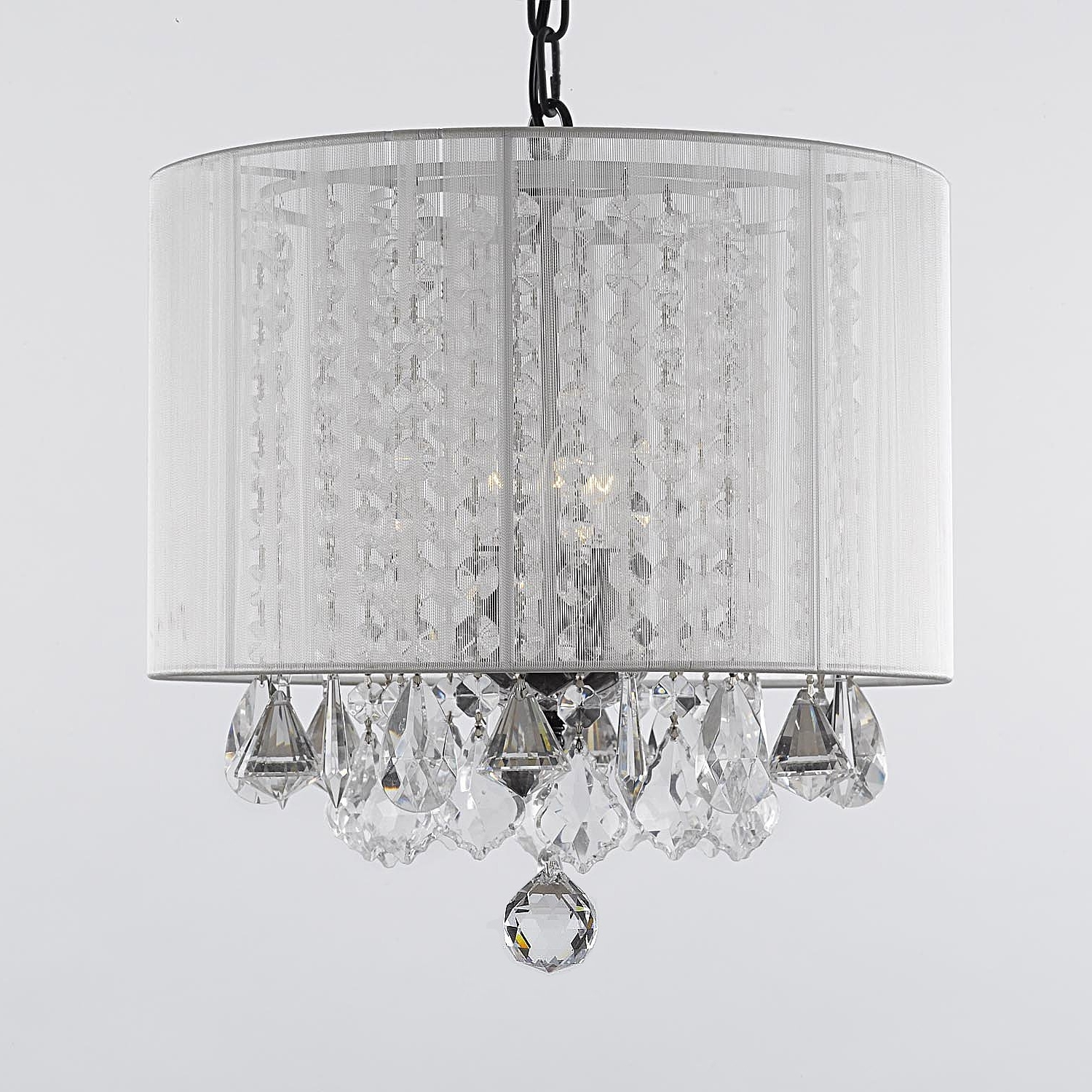 Modern White Chandelier Intended For Favorite Modern Murano Chandelier L16K Clear Gl Chairs Office Bed Frames (View 11 of 20)