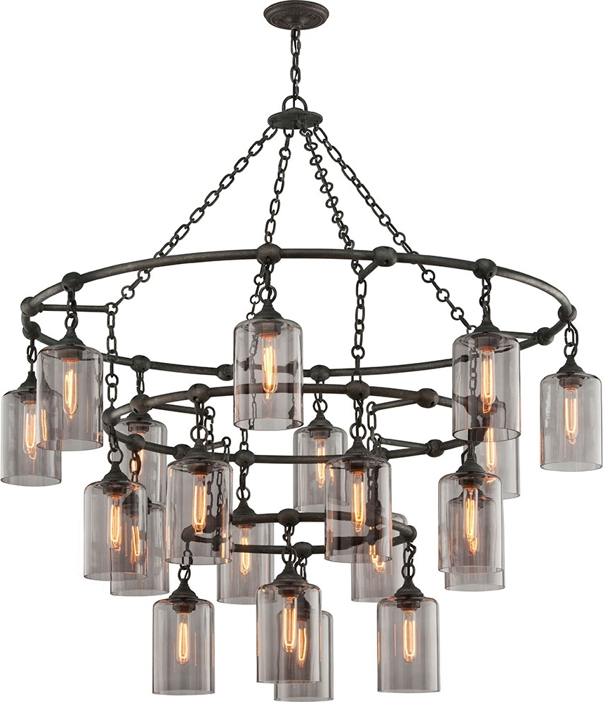 Modern Wrought Iron Chandeliers Intended For Most Popular Troy F4426 Gotham Hand Worked Wrought Iron Chandelier Light – Tro F (View 8 of 20)