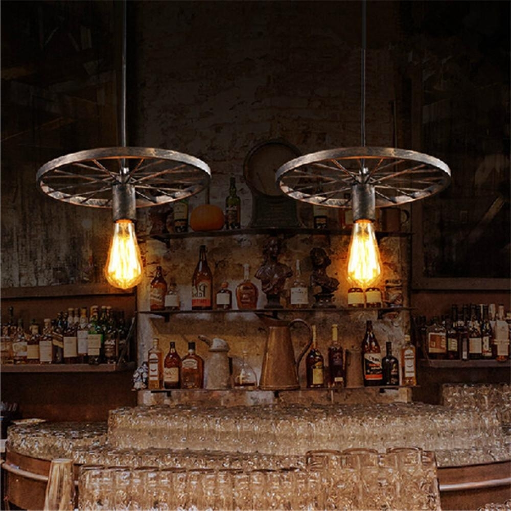 Modern Wrought Iron Chandeliers With Well Known Vintage Black/brown Pendant Lighting Industrail Wrought Iron (View 10 of 20)