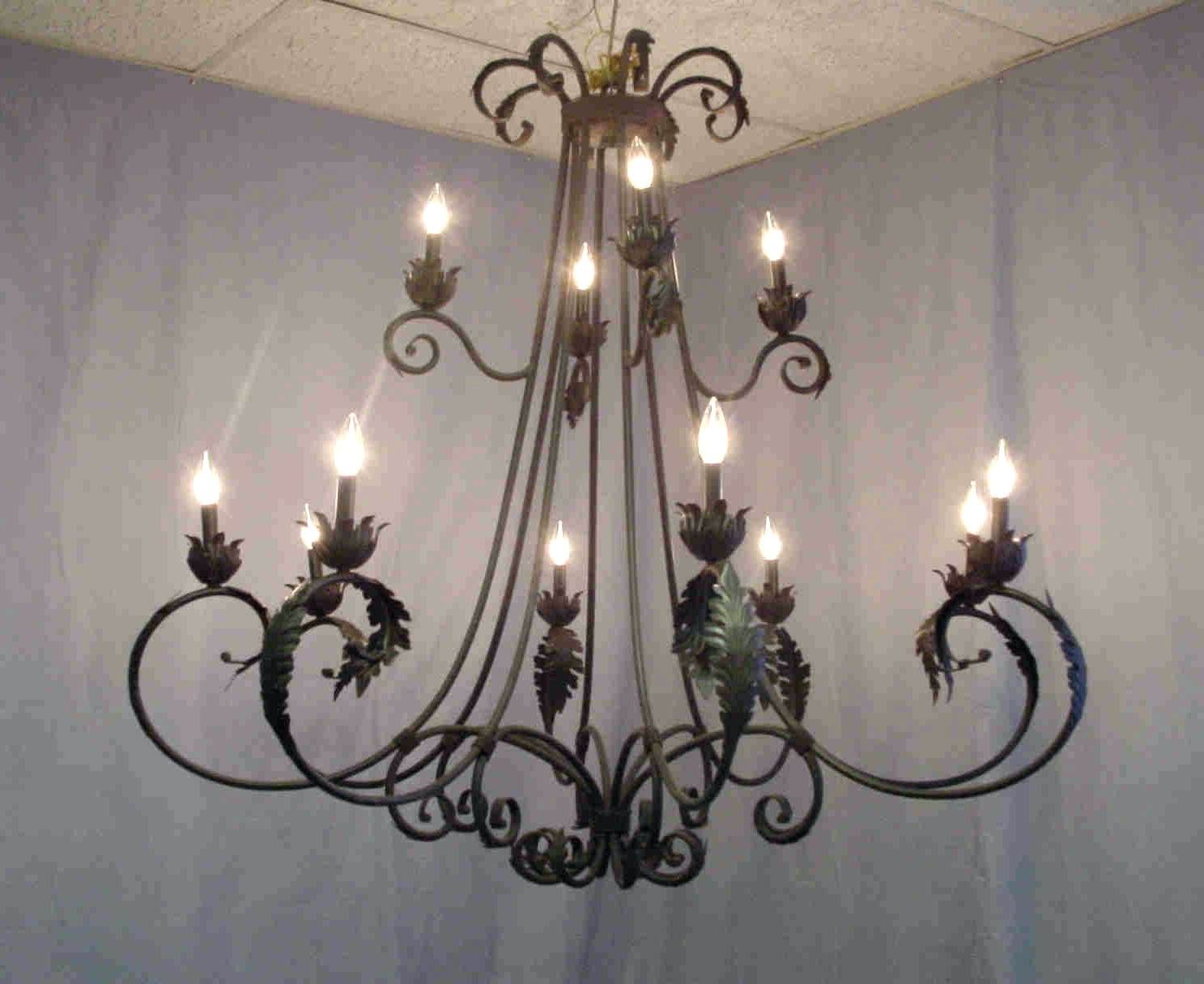 Modern Wrought Iron Chandeliers With Well Liked Chandeliers Design : Awesome Modern Round Iron Chandelier Wrought (View 11 of 20)
