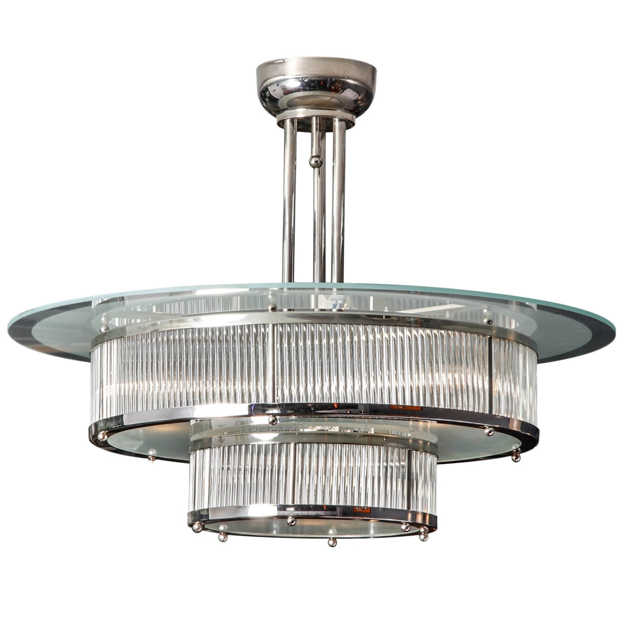 Modernism Pertaining To Trendy Art Deco Chandelier (View 15 of 20)