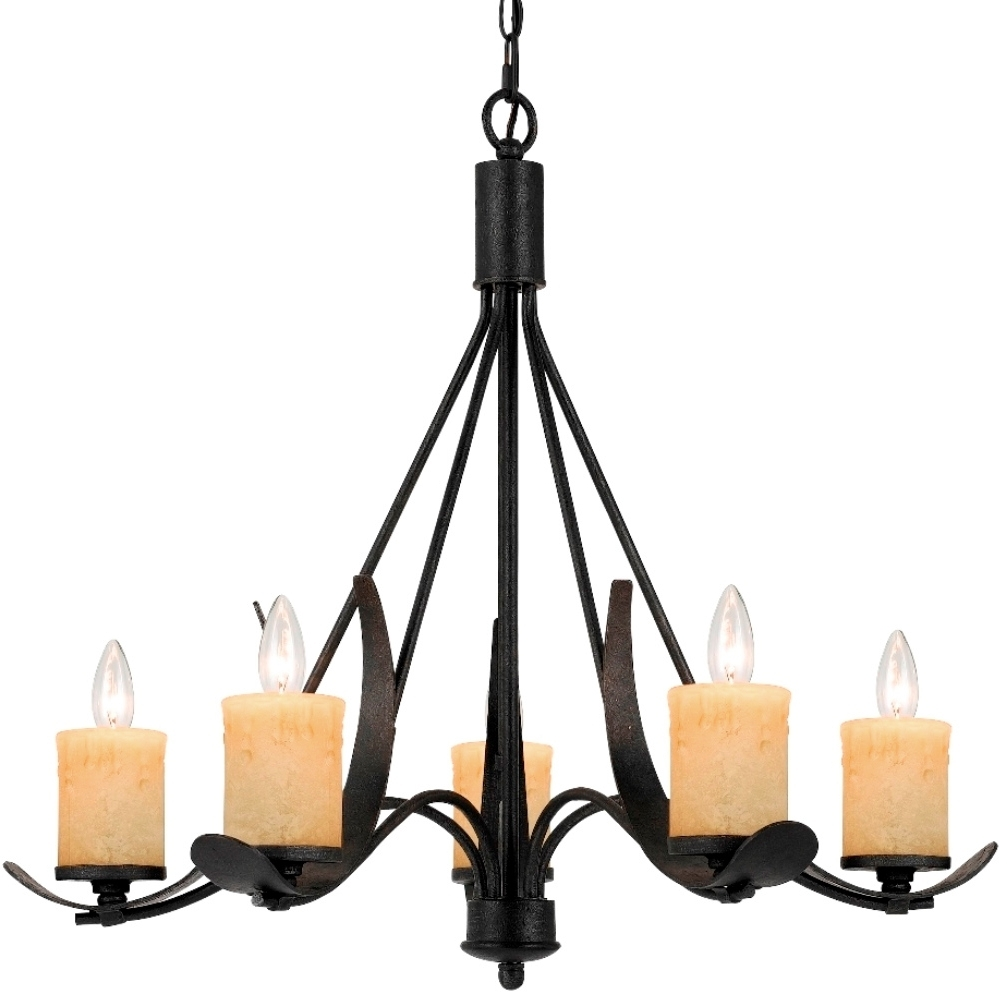 Morelis Rustic 5 Candle Light Blacksmith Iron Chandelier #fx 3561 5 With Regard To Most Recent Iron Chandelier (View 11 of 20)