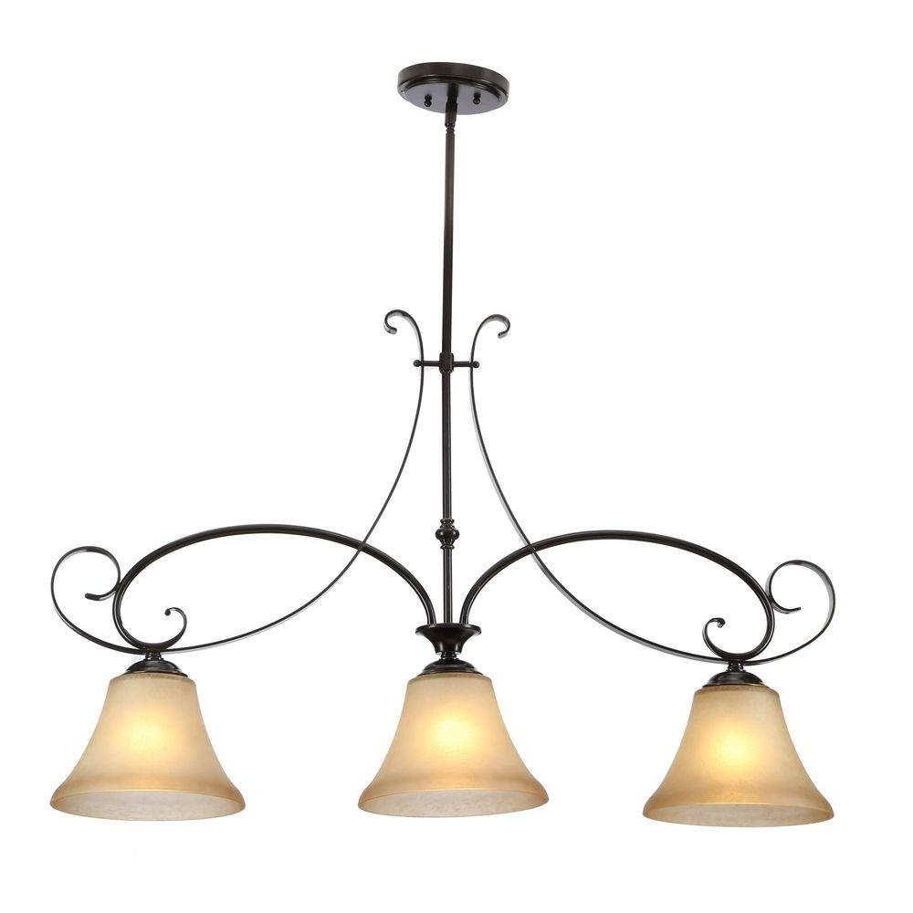 Most Current Black – Chandeliers – Lighting – The Home Depot With Regard To Black Iron Chandeliers (View 14 of 20)